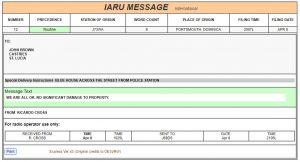 IARU Radiogram
